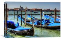 Gondolas across from Le Zitelle, Canvas Print