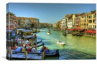 Life in Venice, Canvas Print