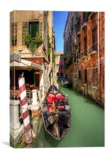 The absent Gondolier, Canvas Print