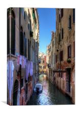 Washday in Venice, Canvas Print
