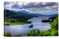 Loch Tummel View, Canvas Print