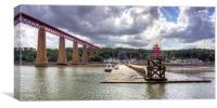 The end of the Hawes Pier, Canvas Print