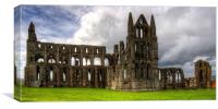The remains of Whitby Abbey, Canvas Print