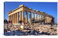 Athenian Temple, Canvas Print