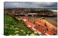 Whitby from the East Cliff, Canvas Print