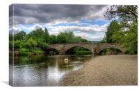 River Eamont Bridge, Canvas Print