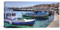 Fishing Boats in the Harbour, Canvas Print