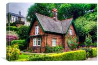 Cottage in Princes Street Gardens, Canvas Print