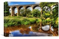 Avon Viaduct Reflections, Canvas Print