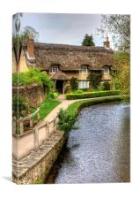 The Thatched Cottage, Canvas Print