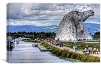 Kelpies and Canal, Canvas Print