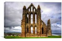 Whitby Abbey Remains, Canvas Print
