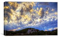 Clouds over Cala Llonga, Canvas Print