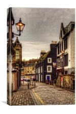 Black and White on the High Street, Canvas Print