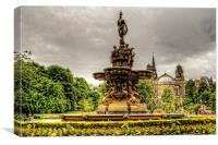 Ross Fountain and St Cuthbert's Church, Canvas Print