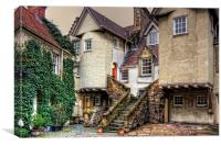 Steps in White Horse Close, Canvas Print