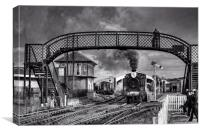 Bo'ness and Kinneil Railway B&W, Canvas Print