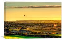 Hot Air Balloons at Twilight, Canvas Print