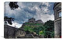 The Castle from St Cuthberts, Canvas Print