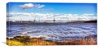 New Forth Crossing - 3 March 2015, Canvas Print