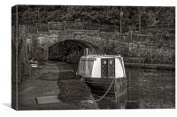 Bridge 43 B&W, Canvas Print