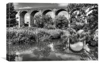 Avon Viaduct Reflections B&W, Canvas Print