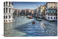 North from the Rialto Bridge, Canvas Print