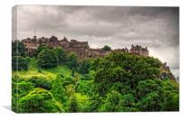 Gathering Storm over Edinburgh Castle, Canvas Print