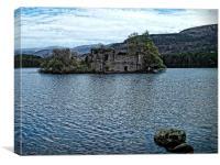 Loch an Eilein Castle Ruin, Canvas Print