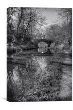 Union Bridge Number 18 - B&W, Canvas Print