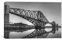 North Queensferry Reflections - B&W, Canvas Print