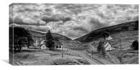 The way out of town - B&W, Canvas Print