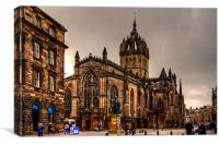 Edinburgh High Kirk, Canvas Print
