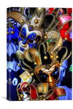 Venetian Carnival Masks                          , Canvas Print
