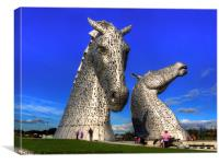 Kelpies at The Helix, Canvas Print