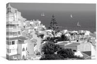 Albufeira, Algarve - B&W, Canvas Print