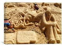 Sand Sculptures, Canvas Print