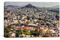 Living in Athens, Canvas Print
