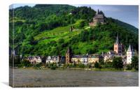 Bacharach am Rhein, Canvas Print