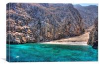 Yiali Beach, Canvas Print