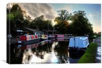 Linlithgow Canal Centre, Canvas Print