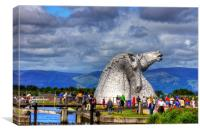 Crowds at the Kelpies, Canvas Print