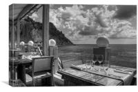 Dining in Paradise - B&W, Canvas Print