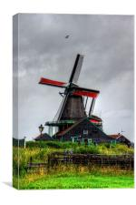 Dutch Windmill, Canvas Print