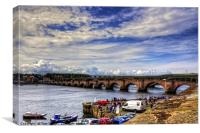 Berwick Old Bridge, Canvas Print