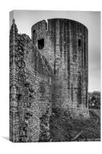 Barnard Castle Tower - B&W, Canvas Print