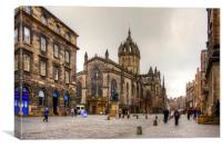 St Giles on the High Street, Canvas Print
