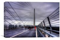 The North Tower of the Queensferry Crossing, Canvas Print
