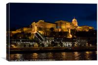 Buda Castle from the Danube, Canvas Print