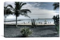 Playa Las Cucharas, Canvas Print